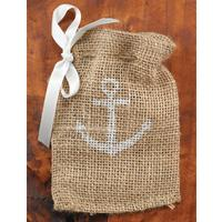 20819 Anchor Burlap Favour Bags