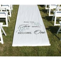 30045 Two Shall Become One Aisle Runner