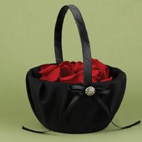 Midnight Rendezvous Flower Girl Basket