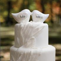 20764 Porcelain Love Birds Cake Topper