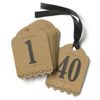 Vintage Kraft Table Number Tags