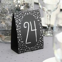 Silver Polka Dot Table Number Tent Cards