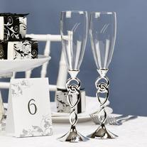 74613 Love Knot Champage Toasting Flutes