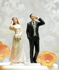 Cell Phone Couple Cake Topper
