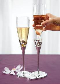 8544 - Love Heart Toasting Flutes
