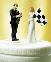At the Finish Line Cake Topper