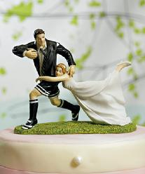 9016 Love Match Rugby Cake Topper