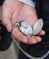 9175 Brushed Silver Pocket Watch
