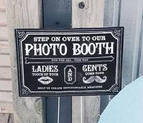 Chalkboard Style Photo Booth Sign