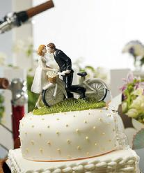9215 Bicycle Bride & Groom Cake Topper