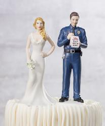 9351 Police Officer Groom Cake Topper