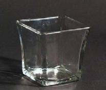 4 Inch Flared Square Votive Holder