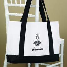 White Bridal Party Tote Bags