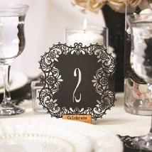 Black Table Number Cards