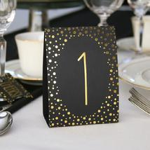Gold Polka Dot Table Number Tent Cards