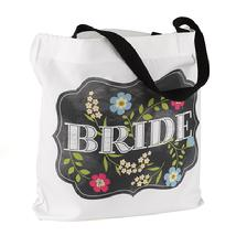 Chalkboard Floral Wedding Party Totes