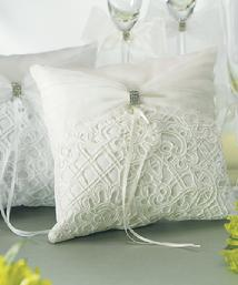 Bridal Tapestry Ring Pillows White or Ivory