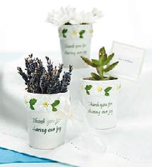 8010-Mini Flower Pot Favours(6) $17.98