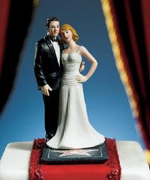 8659 Hollywood Glamour Couple Cake Topper