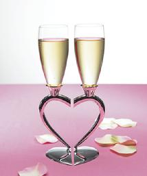 8441 Interlocking Heart Stem Toasting Flutes