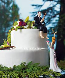 9014 Hooked on Love Cake Topper