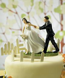 9019 Race to the Altar Cake Topper