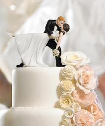 9209 Romantic Dip Cake Topper