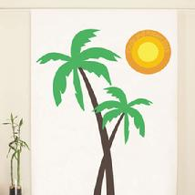 Palm Trees Personalized Photo Booth Backdrop
