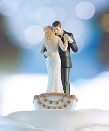9352 Row Away Couple Cake Topper