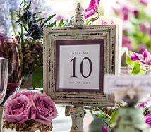 Aged Wooden Table Number Frame