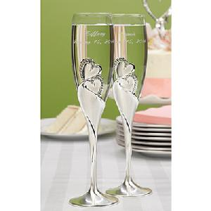 10005 Sparkling Love Toasting Flutes