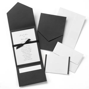 10724 Classic Black & White Pocket Invitation Kit