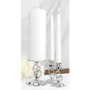 10805 Sparkling Love Unity Candle Holder Stand