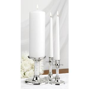 10813 Glittering Beads Unity Candle Holder Stand