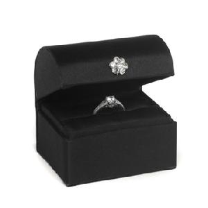 Black Treasure Chest Ring Box