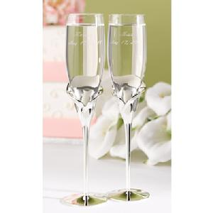 11191 Calla Lily Toasting Flutes