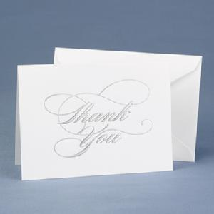 20621 Silver Thank You Cards