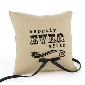 26660 Happily Ever After Linen Ring Pillow