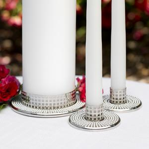 Vintage Pearl Unity Candle Holder