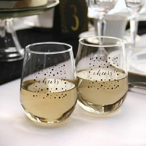 Cheers Stemless Wine Glasses