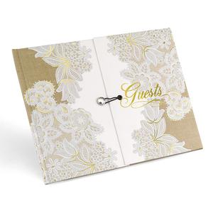39402 Rustic Lace Guest Book
