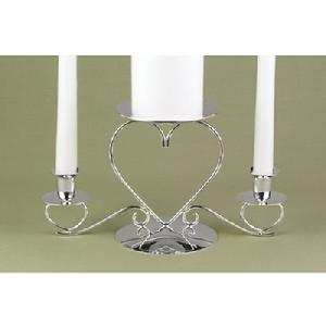 44605 Triple Heart Unity Candle Stand