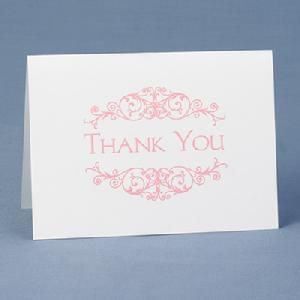 50350 Flourish Frame Thank You Cards