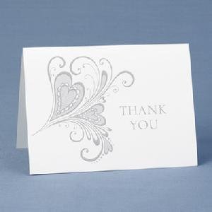 50354 Paisley Hearts Thank You Cards