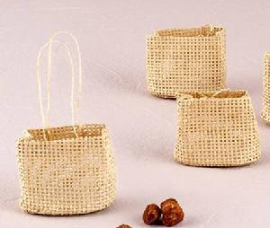 Natural Woven Beach Bag Favour Bag