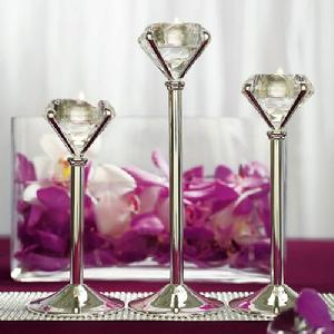 8440 Tall Diamond Shaped Tealight Holders