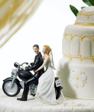 8660 Motorcycle Couple Cake Topper