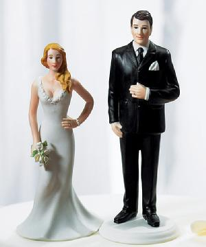 Curvy Bride and Big & Tall Groom Cake Topper