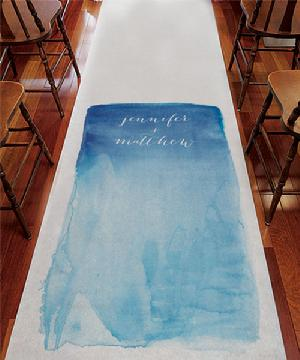 9299A Aqueous Personalized Aisle Runner