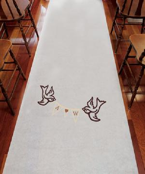 9299BP Bird Pennant Personalized Aisle Runner